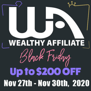 Black friday give away at wealthy affiliate